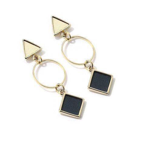 Aretes de aleación de chapado geométrico de las mujeres NHLL134739's discount tags