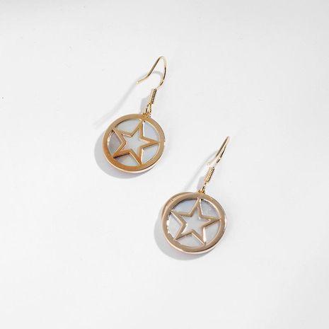 Aretes de aleación de chapado geométrico de las mujeres NHLL134744's discount tags