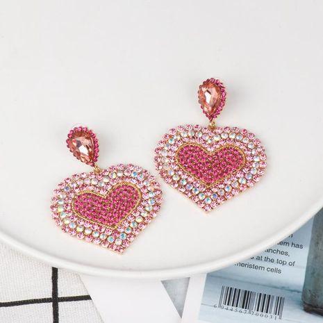 Aretes de aleación de diamante en forma de corazón de la mujer NHJJ134748's discount tags