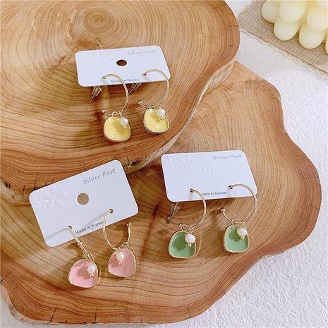 Aretes de aleación de gota de aceite geométrico de las mujeres NHYQ134764's discount tags