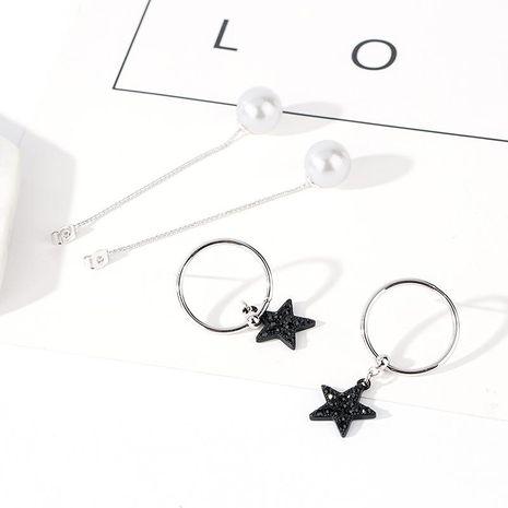 Aretes de aleación de chapado geométrico de las mujeres NHLL134766's discount tags