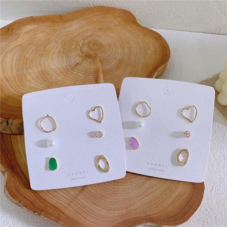 Aretes de aleación geométrica de diamante geométrico para mujer  NHYQ134772's discount tags