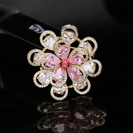 Broches de cobre florales de mujer NHDO134782's discount tags