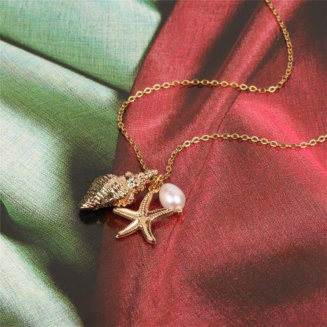 Collares de acero titanium geométricos de mujer NHPY134784's discount tags