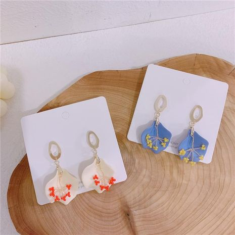 Aretes de aleación de pintura floral para mujeres NHYQ134798's discount tags