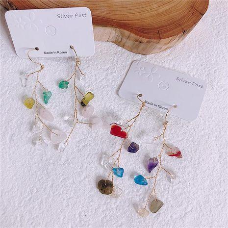 Incrustaciones geométricas de mujer de aleación de cristal Aretes NHYQ134800's discount tags