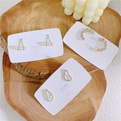 Aretes de aleación geométrica de diamante geométrico para mujer  NHYQ134824's discount tags