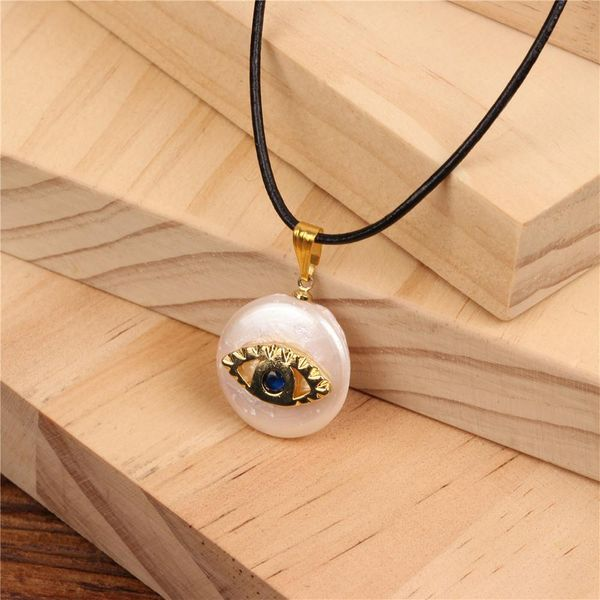Fashion micro-encrusted evil eye beads necklace NHPY134846