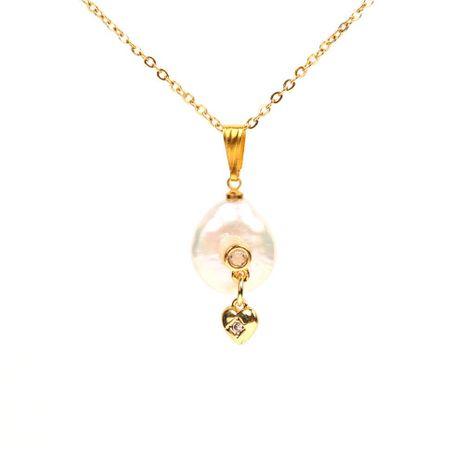 Creativo micro-incrustado estrellas luna collar de perlas NHPY134849's discount tags