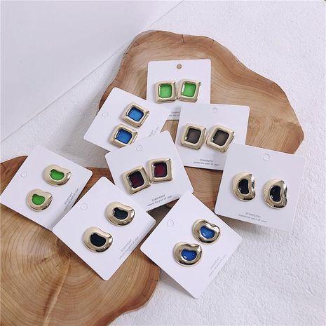 Aretes de aleación de gota de aceite geométrico de las mujeres NHYQ134855's discount tags