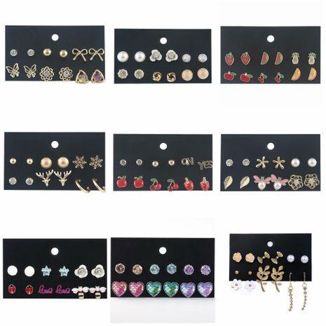 Aretes de aleación de chapado geométrico de las mujeres NHSD134858's discount tags