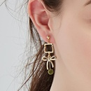 Fashiony cool wind butterfly combined with alloy earrings NHLL134644