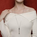 Womens Fishbone Electroplated Metal Necklaces NHLL134751