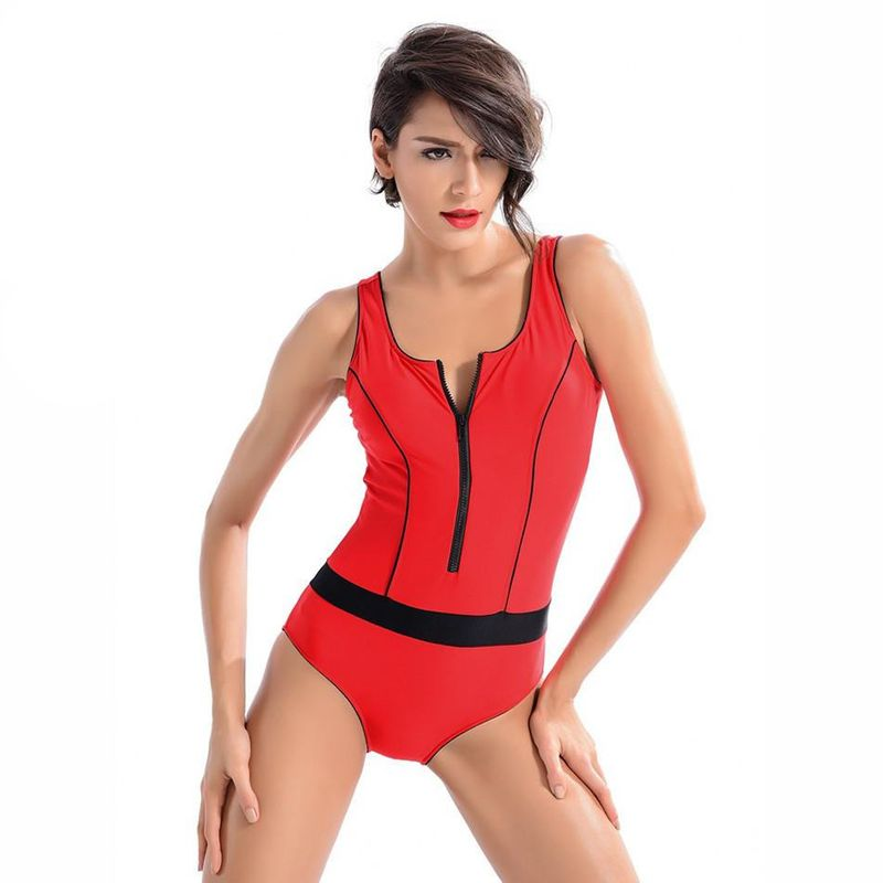 Fashion racing one-piece slimming swimsuit NHJF134972