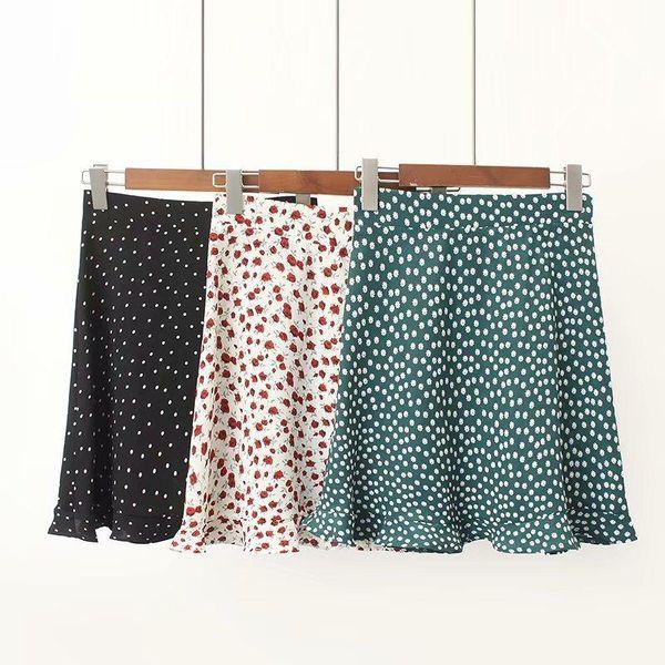 Fashion ruffled hem mini floral skirt skirt NHAM135019