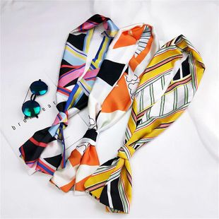 Fashion double-sided wild small scarf professional scarf NHMN135054's discount tags
