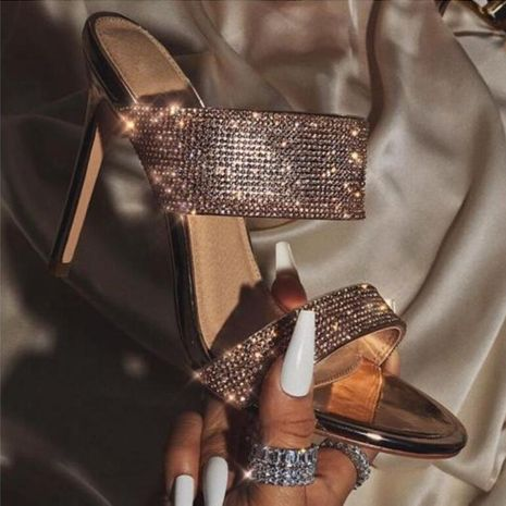 European and American fashion high heel rhinestone sandals and slippers NHSO135061's discount tags