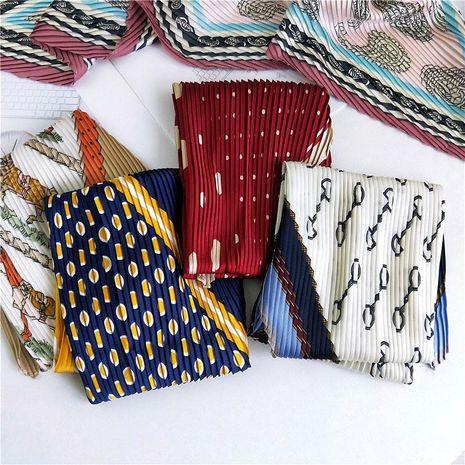 Summer literary retro small scarf small scarf NHMN135068's discount tags