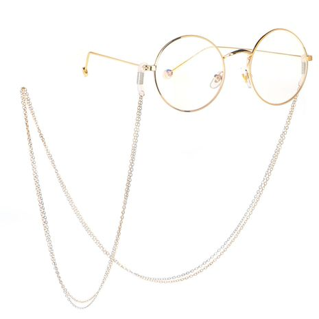 Two-color double-layer metal chain sunglasses chain NHBC135101's discount tags