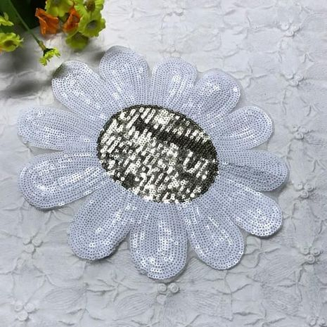 Explosion models sequins sun flower DIY cloth stickers NHLT135108's discount tags