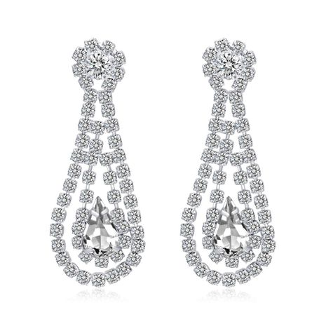 Stylish individual rhinestone-studded earrings NHDR135119's discount tags