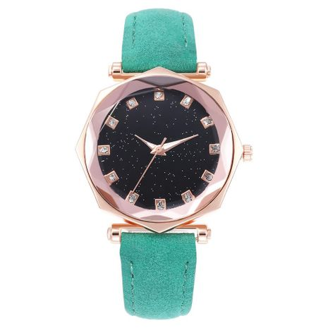 Fashion starry luminous dial octagonal belt quartz watch NHHK135131's discount tags