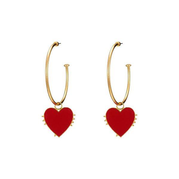 Bohemian Love Big Circle C-Type Earrings NHOT135134