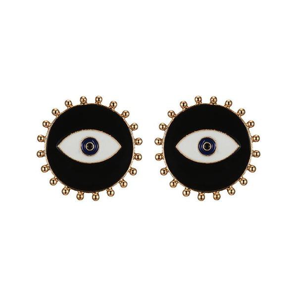 Street beat fashion exaggerated devil eye earrings NHOT135140