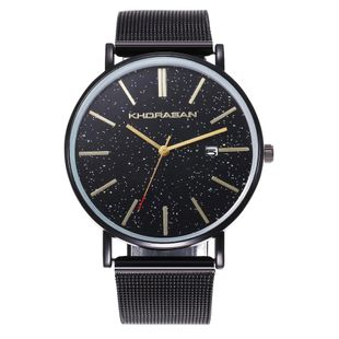 Fashion starry alloy mesh belt men's watch NHHK135142's discount tags