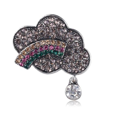 Fashion alloy rhinestone cloud brooch NHDR135145's discount tags