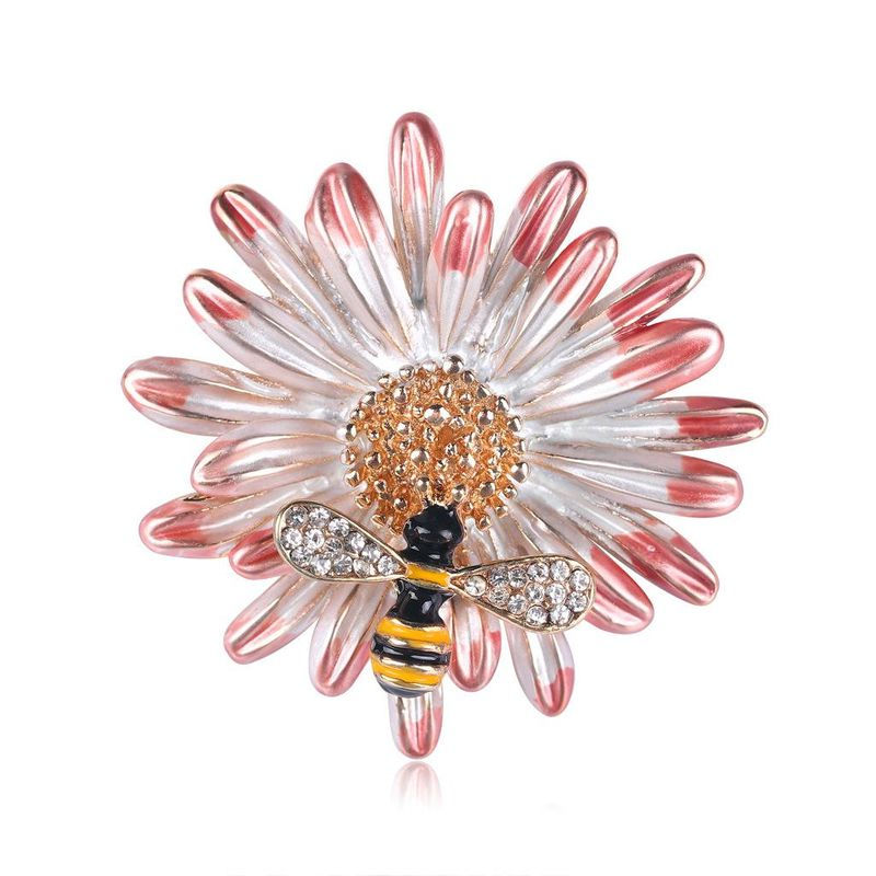 Fashion bee flower alloy brooch NHDR135161