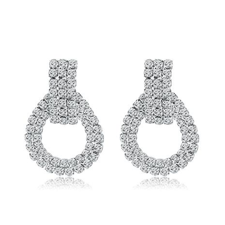 Stylish high-end atmospheric rhinestone earrings NHDR135169's discount tags