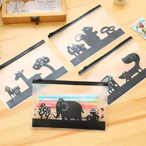 Cute creative cartoon animal translucent frosted file bag NHHE135195's discount tags