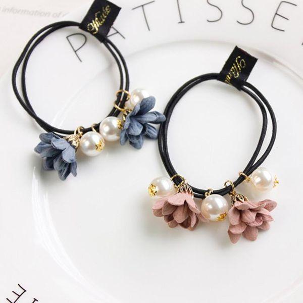 Beaded flower beads hair ring NHSM135207