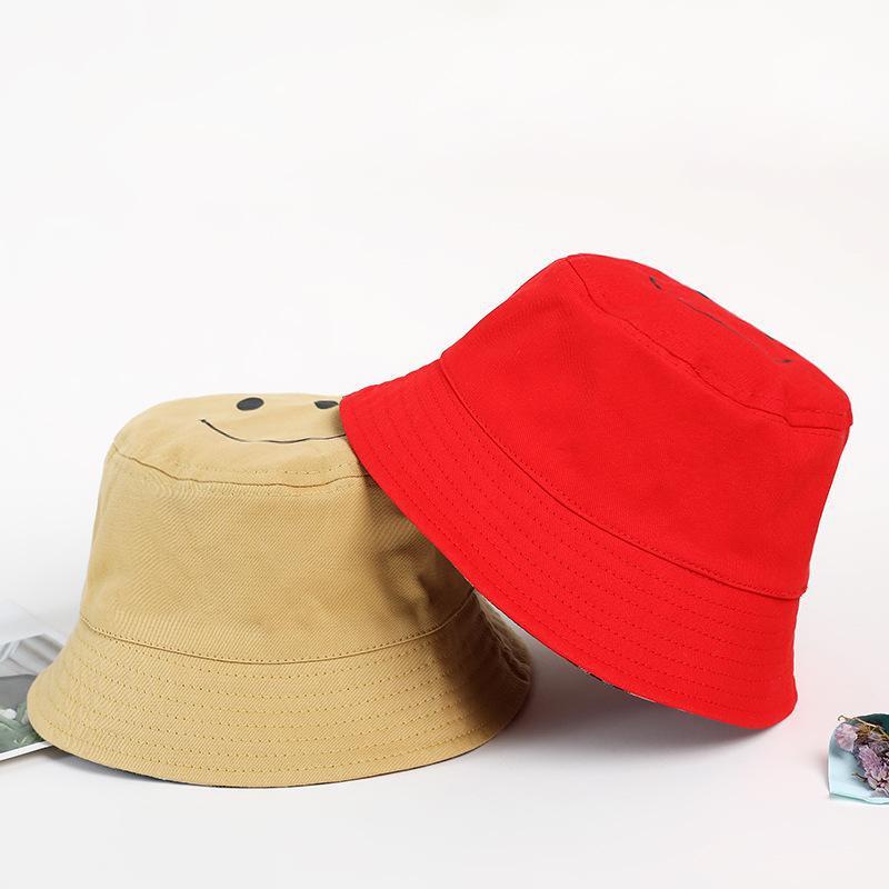 Double-sided cute cartoon smiley fisherman hat visor sun protection cap NHXB135265