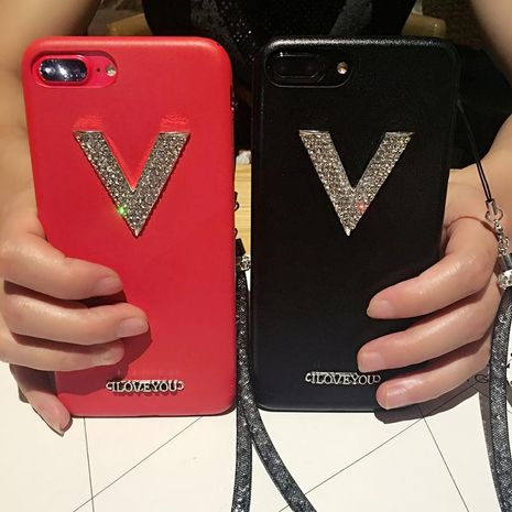 Creative rhinestone lanyard luxury mobile phone case holster NHJP135285 For iphone's discount tags