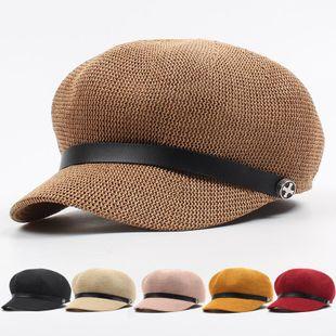 Sun visor summer straw hat NHXO135341's discount tags