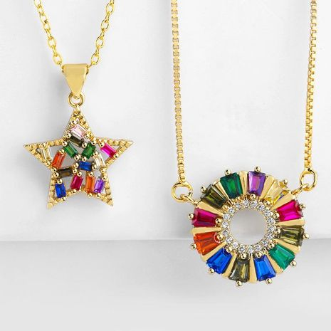 Womens Star Copper Plated 18K Alloy Necklaces NHAS130614's discount tags
