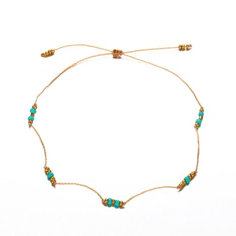 Creative retro push-pull beaded rice beads alloy anklet bracelet NHPJ130633's discount tags