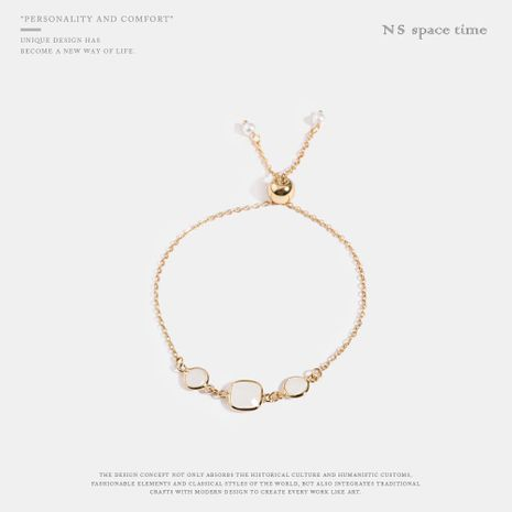Simple and exquisite light luxury wild imitated crystal pull bracelet NHQS130634's discount tags