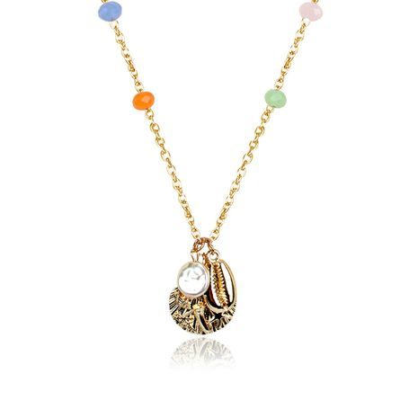 Simple beach shell pendant handmade chain necklace NHCT130637's discount tags