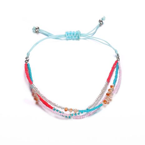 Creative retro simple color beaded braided rope bracelet NHPJ130645's discount tags