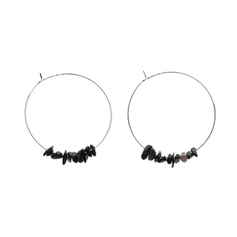 Fashion big ring natural agate gravel earrings NHYL130647's discount tags