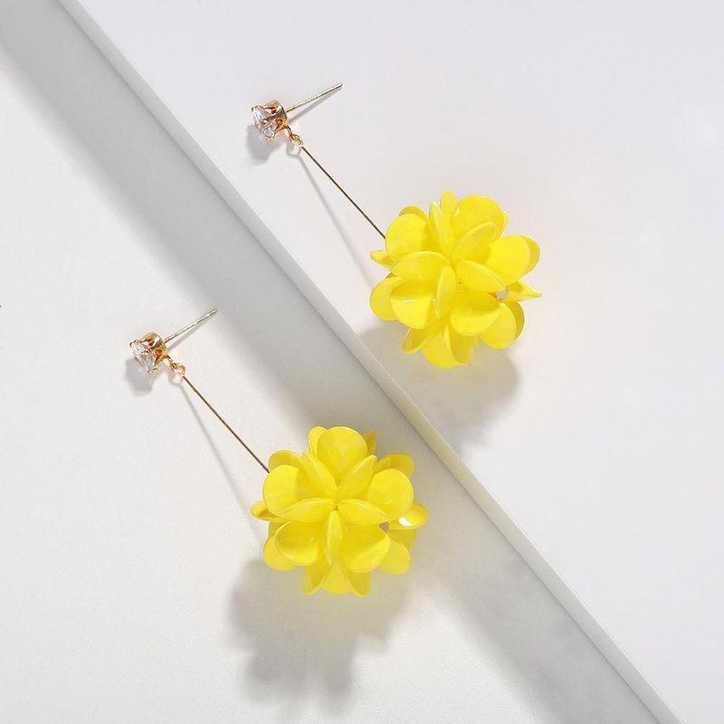 Fashion wild big flower earrings NHJQ130659