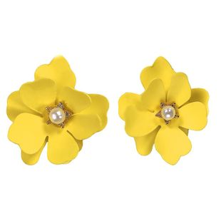 Fantasy color fresh flower beads alloy earrings NHJQ130685's discount tags
