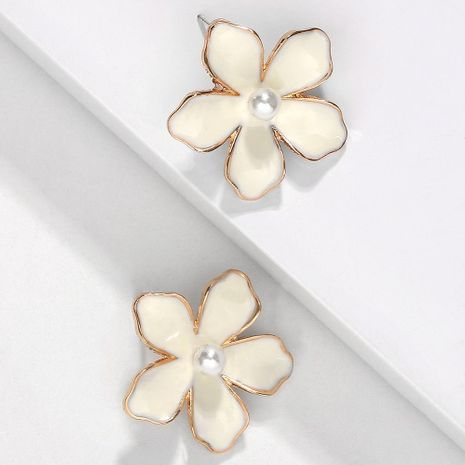 Simple dream flower beads flower alloy earrings NHJQ130692's discount tags