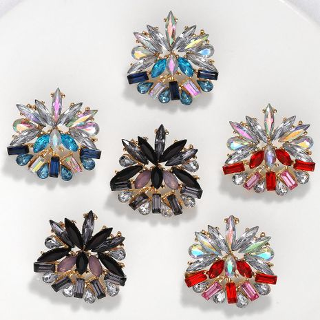 Fashion trend exaggerated flower inlaid rhinestone alloy earrings NHJQ130710's discount tags