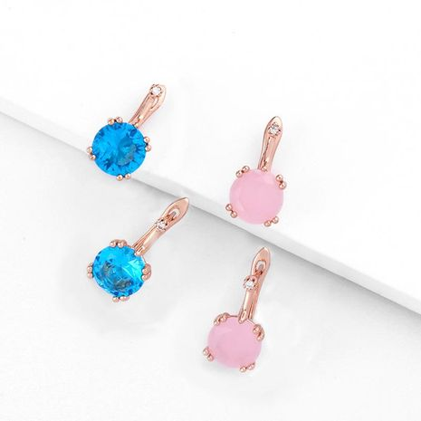 Exquisite large rhinestone rose alloy zircon alloy earrings NHAS130713's discount tags