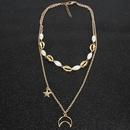 Fashion Moon Star Imitation Beads Shell Necklace NHCT130507