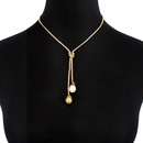 Womens teardropshaped plated aluminum Necklaces NHCT130537